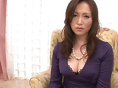 Dude stimulates Japanese chick in nylons with a sex toy