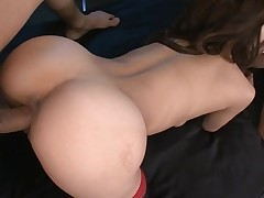 Taut fur pie slut rams a obese marital-device in her cum-hole making it moist